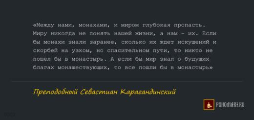 ЦИТАТЫ: Преподобный Севастиан Карагандинский - 02