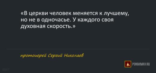 ЦИТАТЫ:  прот. Сергий Николаев
